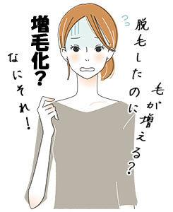 脱毛のための光照射やレーザー照射をしたにもかかわらず、逆に体毛が増えること、それを増毛化と言います。