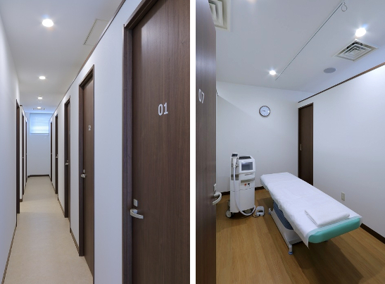 ブランクリニックの施術部屋(広くて完全個室)
